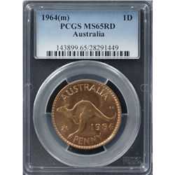 1964(m) Penny PCGS MS65RD