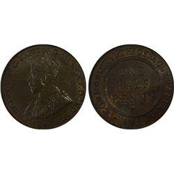 1918-I ½ Penny PCGS AU58