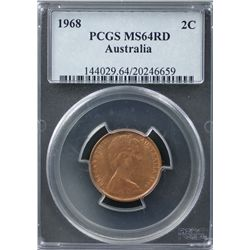1968 2c PCGS MS64RD