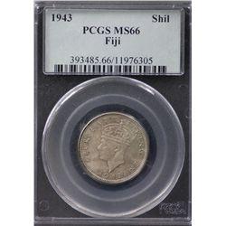 1943 Fiji Shilling PCGS MS66