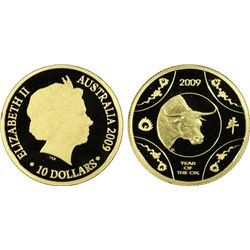"2009 $100 Gold ""Ox"" PCGS PR69DCAM"