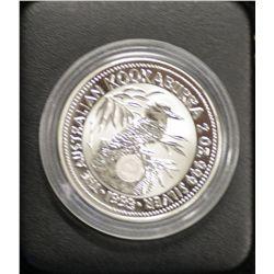 2 oz Privy, 1993 Emu, certificate 074