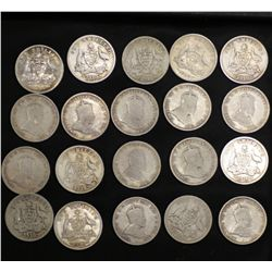 1910 Shillings, 20 Coins suitable for sets