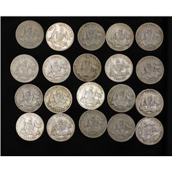 1912 Shillings, 20 coins suitable for sets