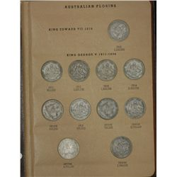 Set of Australian Florin (no cent) in Dansco Supreme