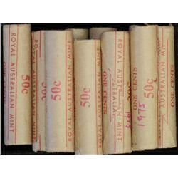 50c rolls 1980 (6), 1981 Regular (2)