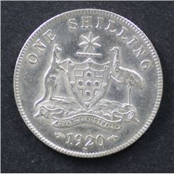 1920 Shilling Good EF, Cleaned