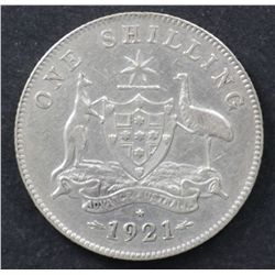 1921 Star Shilling Good VF