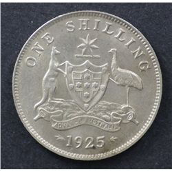 1925 Shilling Nearly Uncirculated