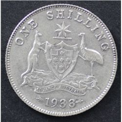 1933 Shilling Good very Fine