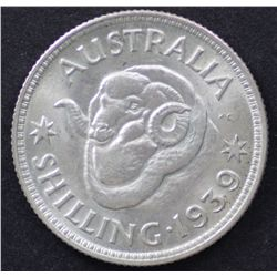 1939 Shilling Nearly Unciculated