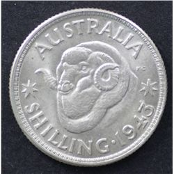 1943 & 1944M Shillings Unciculated