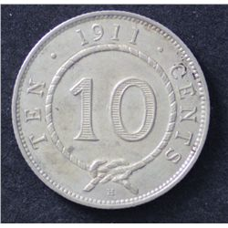 Sarawak 10c 1911 Extremely Fine or better