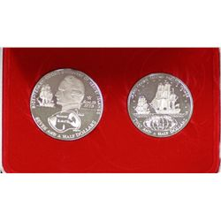 Cook Islands Proof Silver Pair 1973, in box, plus 1973 Proof Set