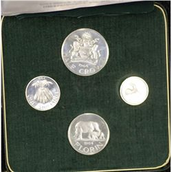 Malawi Proof Set 1964, in green box of issue, Scarce
