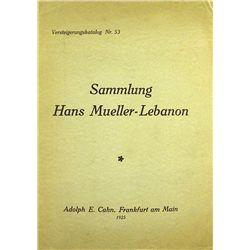 SAMMLUNG HANS MUELLER-LEBANON