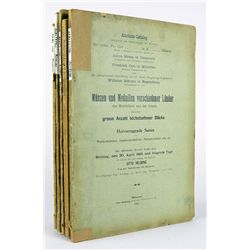 FIVE EARLY HELBING AUCTION CATALOGUES