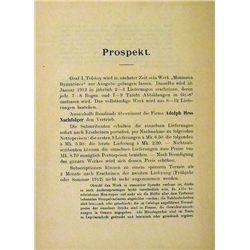 Prospectus for Tolstoï's Monnaies byzantines