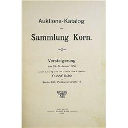 AUKTIONS-KATALOG DER SAMMLUNG KORN