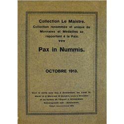 COLLECTION LE MAISTRE, PAX IN NUMMIS 1913