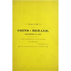 CATALOGUE OF COINS AND MEDALS