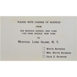 PRINTED CHANGE OF ADDRESS NOTICE