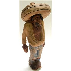 Andy Anderson Man with Sombrero caricature carving