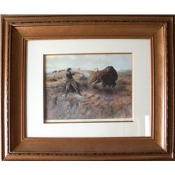 Charles Russell print: Shooting the Buffalo