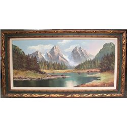Arnberger: Swiss Alps Oil Painting