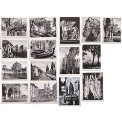Giuseppe Mario D'Amico set of 15 prints with letter and envelope