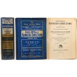 Rand McNally Bankers Directory Blue Book, 1925