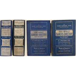 Rand McNally Bankers Directory Blue Book Pair