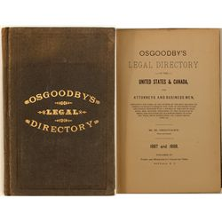 Osgoodby's Legal Directory, 1887-88