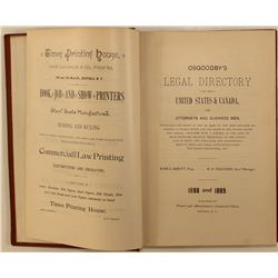 Osgoodby's Legal Directory, 1888-89