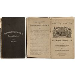 Shipping Clerks' Council Express Directory, 1899