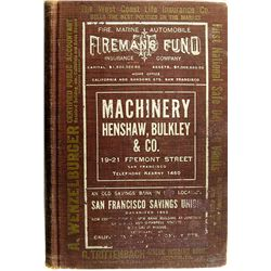 San Francisco City Directory Book, 1909