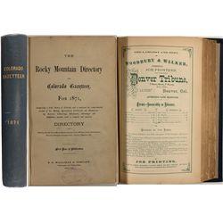 The Rocky Mountain Directory and Colorado Gazetteer, 1871