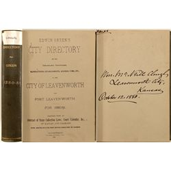 City of Leavenworth, KS and Fort Leavenworth Directory, 1880-81
