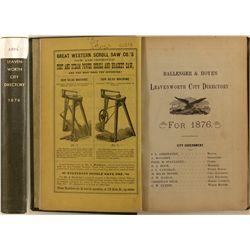City of Leavenworth, KS Directory, 1876