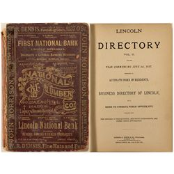 Lincoln Directory for 1887