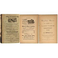 Truckee Basin & Lake Tahoe Directory, 1884-85