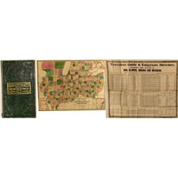 Phelps & Squires map of Michigan, Illinois, Indiana & Ohio, 1836