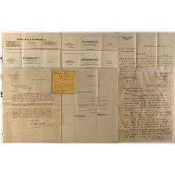 Mining geologist A. E. Rau Roesler correspondence