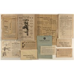 Utica Mining Company: various handbills and advertising envelopes found in collection