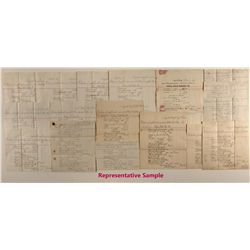 345 Assay sheets for mines in Gold Rush Country