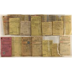 37 Southern Pacific shipping receipts