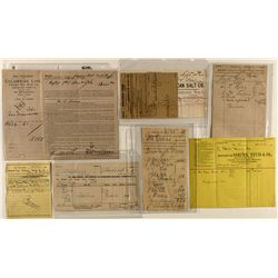 Six shipping documents including the Panama Rail Railroad