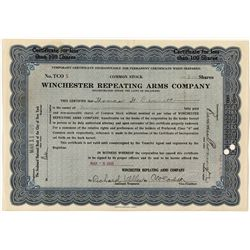 Temporary Winchester Stock Certificate