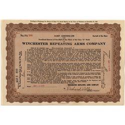 """Winchester Script Class """"A"""" Stock Certificate"""