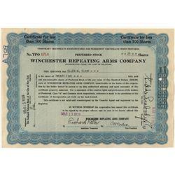Temporary Winchester Preferred Stock Certificate